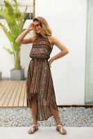Womens Summer Vintage Beach Sundress Boho Evening Party  Long Maxi Dress