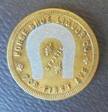 SEATTLE ( WA. ) HORSE SHOE LIQUOR CO.  G.F. 12 1/2c  TRADE  TOKEN
