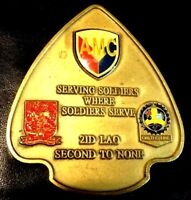 """Challenge Coin US Army 2nd Infantry Division Logistics Assist Office LAO 2"""" 359"""