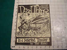 Vintage Science Fiction Zine DEAD THING IS A DESERTED THEATER suppliment OUTRE 5