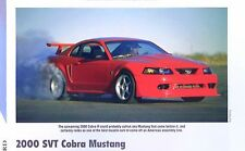 2000 Ford Mustang Cobra R SVT 5.4 Liter 385 hp Info/Specs/photo/price 11x8