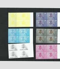 O) 2002 ST VINCENT AND GRENADINES, VARIETY OF ERROR IN COLOR AND PRINT, IMPERFOR