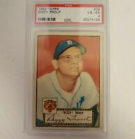 1952 Topps PSA 4 VG-EX #39 Dizzy Trout Red Back Detroit Tigers