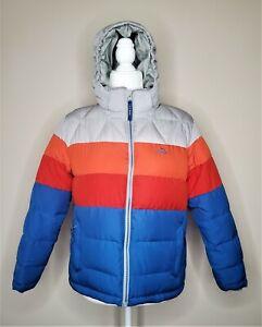 Kids' L.L. BEAN Down Jacket Colorblock Size Large 14-16 Cobalt Sea
