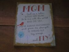 Hallmark Mom Just as a Robin Raises Her Young Saying …. Padded Cardboard Picture