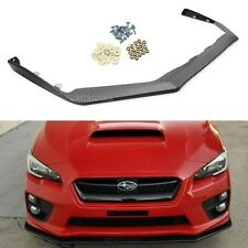 Carbon Look -ABS Fit 15-18 Subaru WRX STI V Limited JDM Front Bumper Lip Spoiler