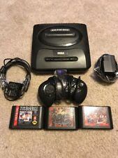 Sega Genesis Model 2 Console And Accessories + 3 Games GDFAS‼️✔️♨️