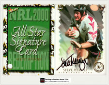 2000 Select NRL All Stars Signature Card SC8: STEVE MENZIES- Sea eagles