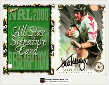 2000 Select NRL All Stars Signature Card SC8: STEVE MENZIES- Sea eagles