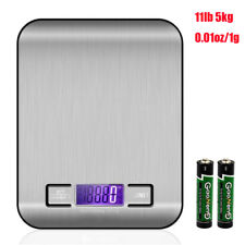 11lb 5kg Stainless Steel Digital Kitchen Scale Multifunction Food Scale Silver