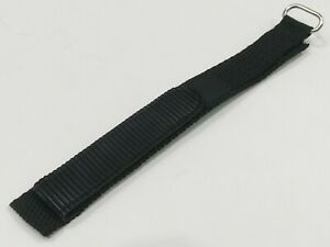 Nylon Black hook and loop fastener Sports wristband Replacement Strap Band 16mm