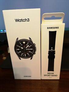 Samsung Galaxy Watch 3 45mm Smartwatch Mystic Black SM + Samsung Sports Band