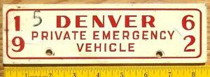 1962 Denver Colorado License Plate Number Tag Topper Attachment - $2.99 Start