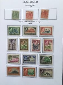 British Solomon Islands KGV & KGVI Mint Hinged stamps