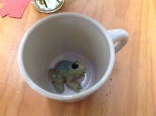 Spademan Pottery Hidden Frog In Mug Surprise Coffee Cup Mug