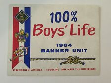 1964 BSA 100% Boys' Life Banner Unit Sign Boy Scouts Of America