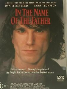 In The Name Of The Father DVD Daniel Day Lewis 1993 Irish Movie Rare - REGION 4
