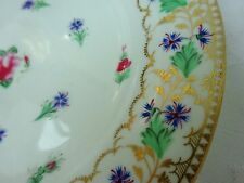Porcelain Plate Gold Gilt Famille Rose Vintage Antique Chinese Hand Painted