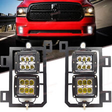 For 13-18 Dodge Ram 1500 Dually 24W LED Fog light Pod Lower Bumper Mount Kit