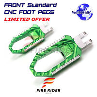 For Kawasaki Versys X-300 Anti-slip Tooth CNC Front Wide Footpegs