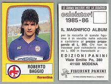 FIGURINA CALCIATORI PANINI 1985/86 - NUOVA/NEW N.93 BAGGIO - FIORENTINA