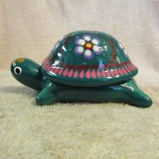 Turtle Keepsake Box Tortuga Tortoise Terrapin Terracotta Fired And Painted