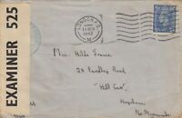 1942: London to Hill Carr, censor