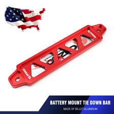 19.5cm Universal Car Billet Aluminum Lightweight Battery Tie Down Bar Stand Red