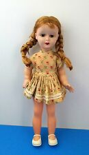 Vintage Poupee Bella String Doll Open/Close Eyes Golden Blonde Braid Hair France