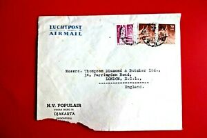 INDONESIA : Airmail Cover to England. DJAKARTA3 Pmk ('52)