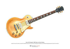 Henry McCullough's Gibson Les Paul Goldtop ART POSTER A3 size