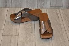 3d4a931a2d0c Chocolat Blu Melissa Cork Platform Wedges- Women s size 6.5 M Silver
