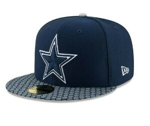 Dallas Cowboys $40 New Era 59FIFTY Official Sideline NFL Fitted Hat navy 6 1/2