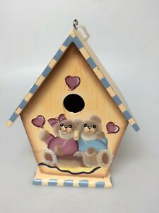 Wood Hand Painted Bird House (Small)
