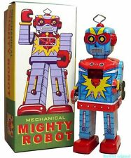 Mighty Robot Tin Toy Windup Robot Senkei Version
