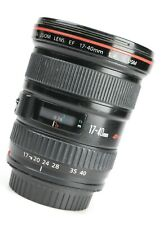 Canon EF 17-40mm F4 L USM Wide Angle Zoom Lens + Rear Lens Cap - Good Condition