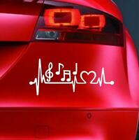MUSICAL NOTES LIFELINE Sticker Funny Car Window Bumper JDM Novelty Vinyl Decal