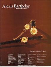 PUBLICITE  1979   ALEXIS BARTHELAY  le styliste de la montre
