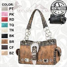 Montana West NEW Leather Concealed Handgun Buckle Style Handbag Purse - BKG-8085