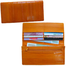 Genuine Eel Skin Wallet Coin Purse Slim Wallet Bifold Wallet