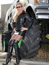 Cuero rock mini mini falda de cuero negro rock us 16 l 46