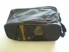 Golf Shoe Travel Storage Ventilated Tote Bag - Black