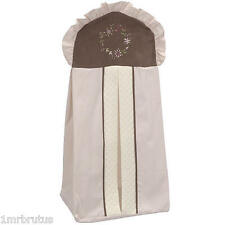 Kidsline JULIA Girls Nursery Diaper Stacker Pink Brown Shabby Chic Floral Ruffle