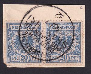 Deutsche Post China Vorläufer Mi.Nr. V 48 d gestempelt, im PAAR (7447)