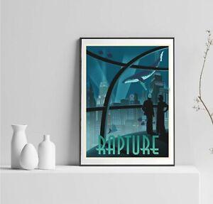 Bioshock Rapture Poster, BioShock Fans Poster, BioShock Shooter Game, Underwater