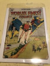 World's Finest Comics #46 - DC Golden Age 1950 Issue Missing Back Cover CGC It