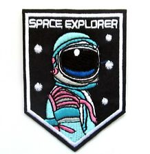 Space Explorer Iron On Patch- Kids Fancy Dress Up Astronaut Crafts Badge Sew