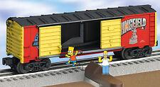 LIONEL Jumping Bart Boxcar co gauge train cartoon tv simpson 6-26801 NIB NR alt