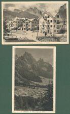 SAN MARTINO DI CASTROZZA, Trentino. Due cartoline viaggiate nel 1929 e 1930
