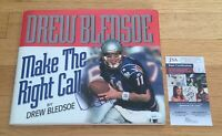 Drew Bledsoe Patriots NFL HOF Signed Autograph Make The Right Call Book JSA COA